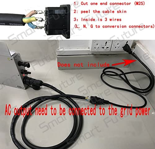 Y&H MPPT wasserdichtes Wechselrichter Netzkabel