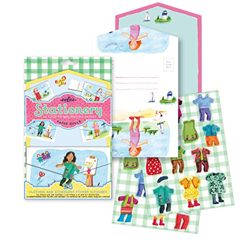 eeBoo Paper Dolls Fold-to-Mail Stationary Set for kids (Eeboo Paper Dolls)
