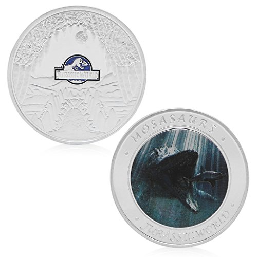 Reinly Jurassic World Park Silver Plated Commemorative Challenge Coin Token Collection