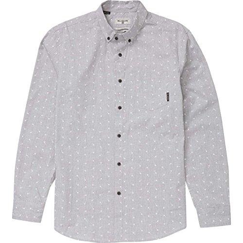(Billabong Men's Printed Woven Shirts, Light Grey Makers, X-Large)