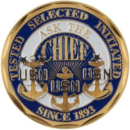 Blue Valor navy W01S21F Proud To Be U.S Navy Coin