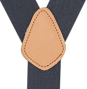 Bioterti Top Mens Genuine Leather Button Y-Style Tuxedo Suspenders In 9 Colors JEKT-01