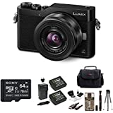 PANASONIC LUMIX GX850 4K Mirrorless 12-32mm O.I.S. Lens 3 Touch LCD + 2 Spare Batteries & 64GB Micro SDXC