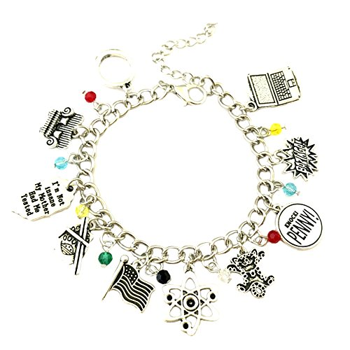 Athena Brand Big Bang Theory Charm Bracelet Quality Cosplay Jewelry TV Series with Gift Box -