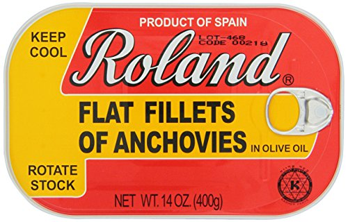 Roland Foods Anchovy Fillets in Olive Oil, 14 Ounce -