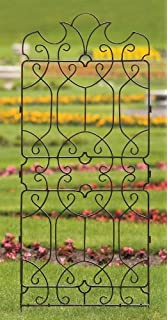 H Potter Wrought Iron Large Metal Ornamental Trellis   Weather Resistant   Yard Art   Wall