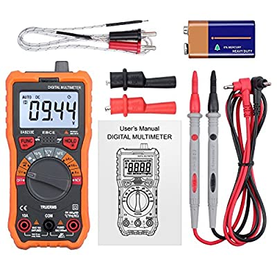 LiNKFOR Multimeter 6000 Counts TRMS Digital Multimeter Auto Ranging NCV Multimeter with Alligator Clips Support Voltmeter Amp Ohm Volt Multi Meter Current Resistance Capacitance Frequency Temperature