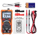 LiNKFOR Digital Multimeter 6000 Counts True RMS Auto Ranging NCV Multimeters with Alligator Clips Support Voltmeter AC/DC Voltage Current Resistance Capacitance Frequency Temperature Multi-Tester