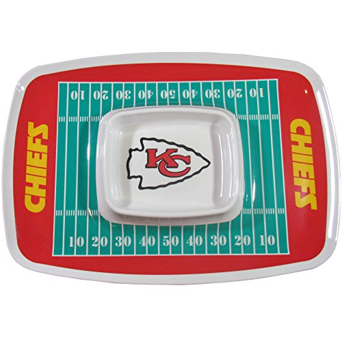 NFL Kansas City Chiefs Chip & Dip Tray, Teal, One Size