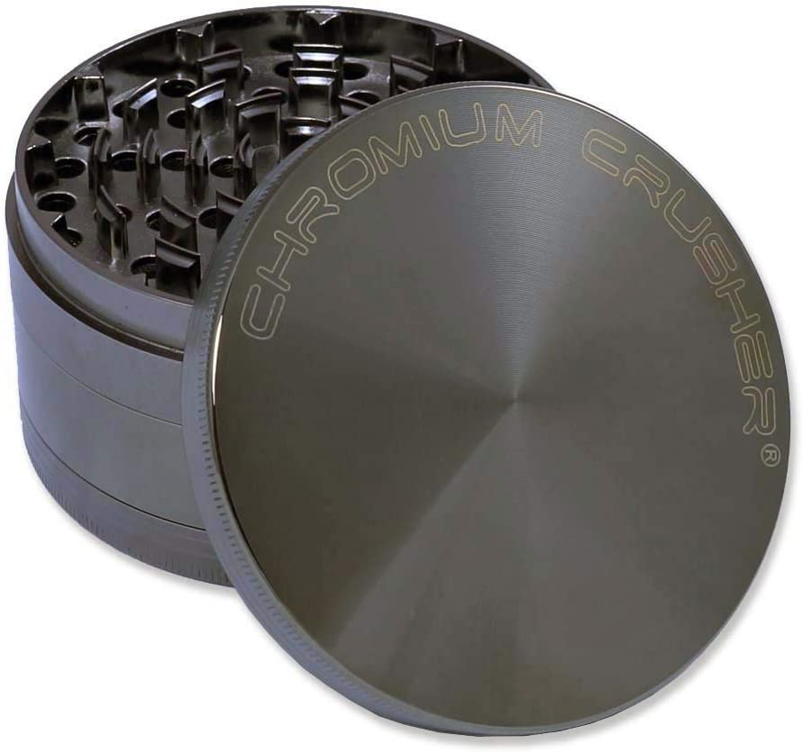 Chromium Crusher 4.0″ Heavy Duty Durable Zinc Tobacco Spice