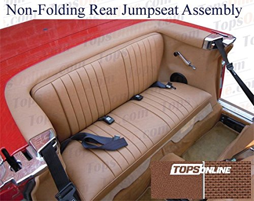 1972 thru 1979 Mercedes Benz 450SL, 350SL & 280SL Convertible (Chassis R107) Non-Folding Complete Rear Jump Seat Assembly - Original MB-Tex Pebble Vinyl (Mahogany)