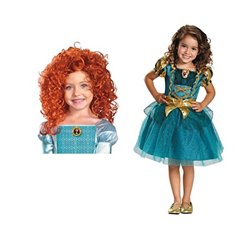 [Brave Merida Girls Disney Costume With Gloves (Small (4-6))] (Disney Brave Costume)