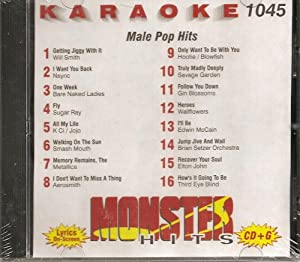 Monster #1045 Karaoke CDG MALE 90'S POP & ROCK HITS