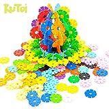 KuToi Rainbow Snow Flakes 300 Discs | STEM Educational Brain Building Toy | Interlocking Plastic Construction Connect Set | Promotes Fine Motor Skills Development - Therapy Tools