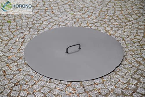 Couvercle pour brasero en acier Stahldeckel: Ø80,5cm für Feuerschale