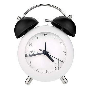PiLife Mini Slient Bell, Reloj de Alarma analógico para ...