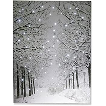 Amazon Com Clever Creations Snowy Winter Path Light Up