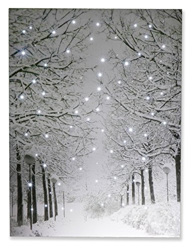 Snowy Winter Path Light Up Poster by Clever Creations |