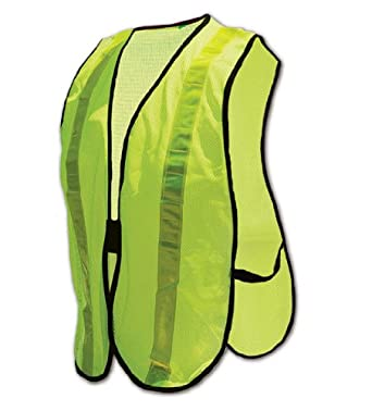 Magid CRV5430 Polyester Non-ANSI Compliant High Visibility Reflective Safety Vest, One Size Fits All, Yellow