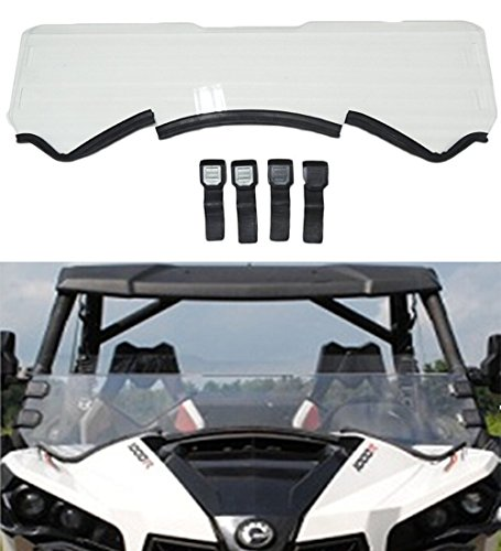 Half Front Quick Release Windshield for Can Am Maverick MAX 1000 Windshield 2013-2016 14 (Quick Release Windshield)