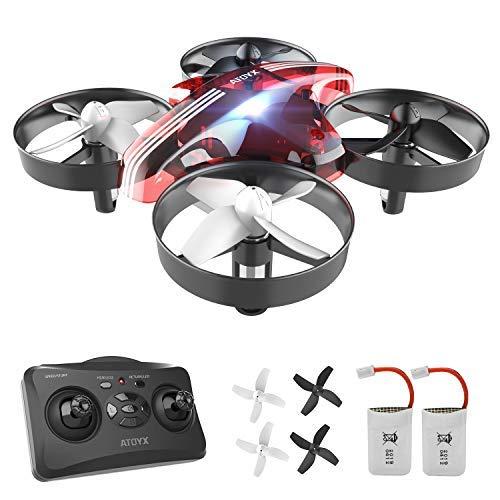 ATOYX Mini Drone, RC Drone 2.4G 4 Canales 6-Axis Gyro, Quadcopter con Modo sin Cabeza, Altitud Hold, Alarma de Batería y…