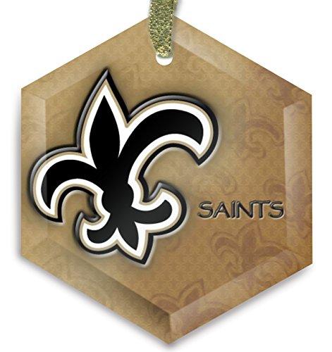 New Orleans Saints 31 Cyrstal Christmas Ornament