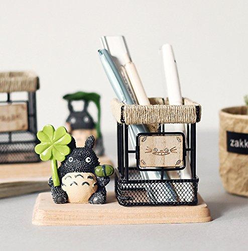 HEYFAIR Japanese Anime Totoro Style Pen Pencil Holder Desk Organizer Unique - Decor Anime Home