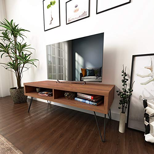 Console Tv Moderna - Roomfitters Mid Century Media Console/TV Stand, Two Open Storage, Walnut …