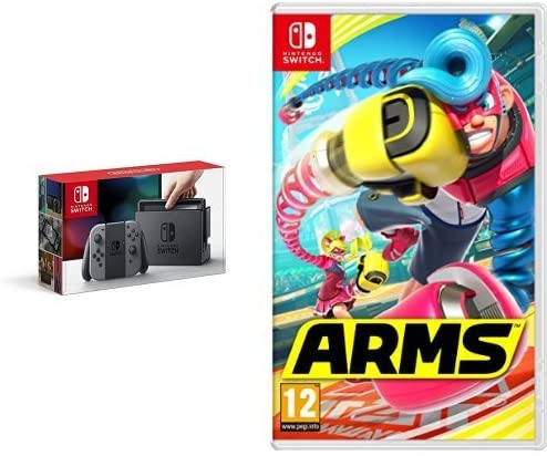 Nintendo Switch - Consola Color Gris + Arms: Amazon.es: Videojuegos