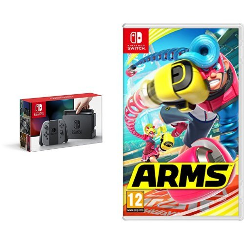 Nintendo Switch - Consola Color Gris + Arms: Amazon.es ...