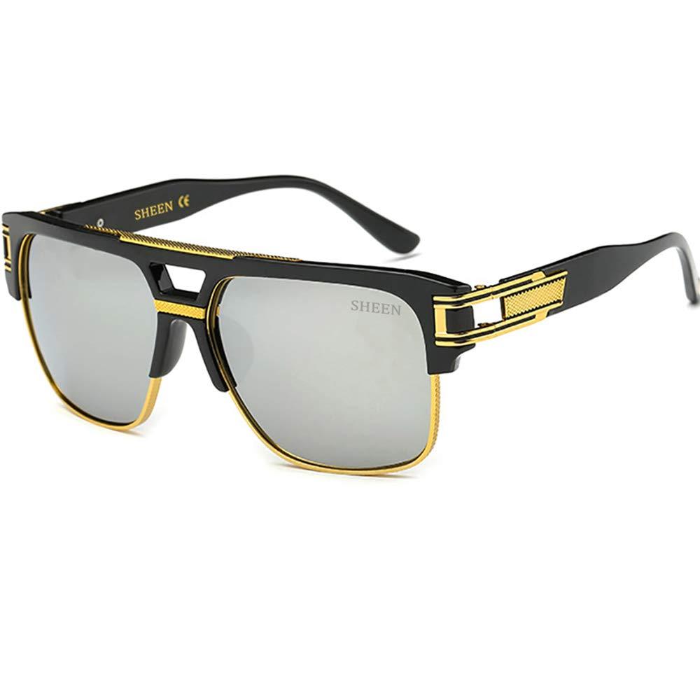Plaza Gafas de Sol de Moda estilo Aviador Marca Retro Vintage Baratas para  Mujer y Hombre Marco de metal Azul marrón transparente plata SHEEN KELLY  97123-3 dd5925d42f96