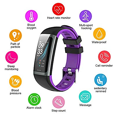 Fitness Tracker, Activity Tracker Watch with Heart Rate Monitor, Color Screen Smart Bracelet with Sleep Monitor, IP67 Waterproof Smart Bracelet for Android and iOS (G26-1)