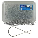 SharpTank Classroom Figure 8 T-Bar Clip (100 Pack) - Wire Hanging Clip Designed for Displaying Signs, Graphics, Mobiles, and Student Work from Drop-Ceilings - Holds up to 10 lbs