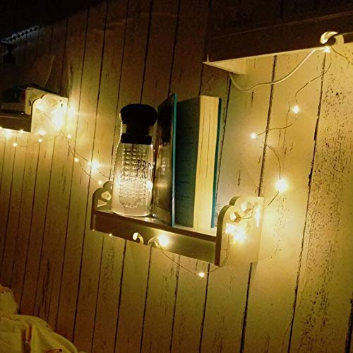 LED Fairy Lights Battery Operated String Lights,2 Pack Led Mini String Lights 50 LED 16.5 FT Battery Powered Sliver Wire Starry Fairy Lights for Indoor Outdoor Wedding Home Garden Party Decoration