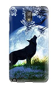 New Style High Quality Night Wolf Desktop Case For Galaxy Note 3 / Perfect Case