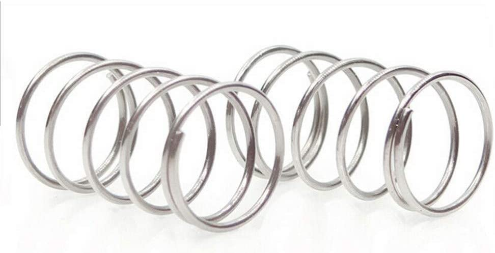 Size : 50mm YINGJUN 10Pcs Compression Spring 304 Stainless Steel Non-Corrosive Tension Spring Wire Dia 0.7mm Outer Dia 7mm Length 10-50mm Compression Springs