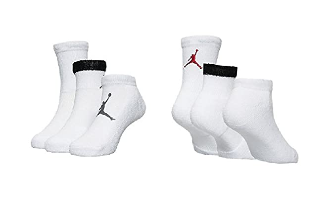 3538303431669 Jordan 3 Pack Mesh Waterfall Socks - Boys' Size 10C-3Y/5-7
