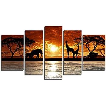 Top Amazon.com: Wild African Safari Striped Zebra Wall Picture Art  WH45