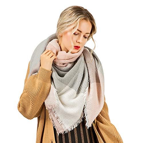 Winter Scarf ADUO Warm Lattice Large Blanket Plaid Cashmere Wrap Shawl Scarfs for Women