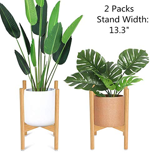 Plant Stand Large Bamboo Flower Pot Holder, Mid...