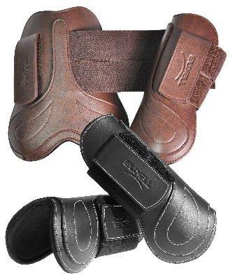 Tekna Fancy Stitched Open Front Boots - Size:Horse Color:Black