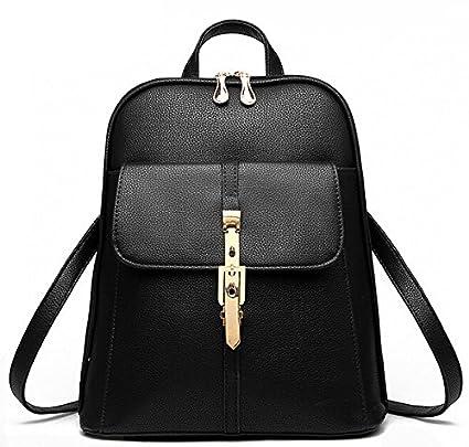 lininghigh calidad mochilas marcas famosas Fashion Lady piel para mujer mochila escolar Mochilas para las niñas