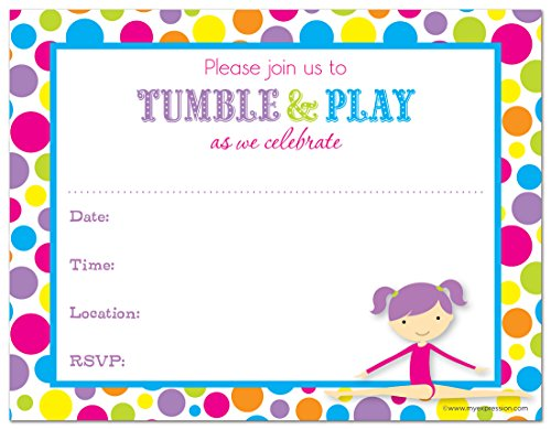 Gymnastics Birthday Party Supplies Amazon – Gymnastics Party Invitation
