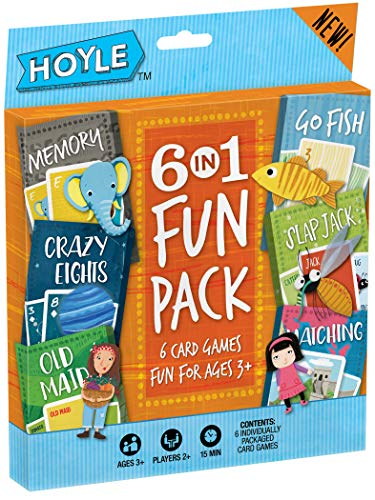 Hoyle Kid's 6 in 1 Fun Pack- Card Games (Best Travel Games For Toddlers)