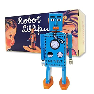 "Vintage Style Silver Mr Cragstan 4"" Atomic Robot"