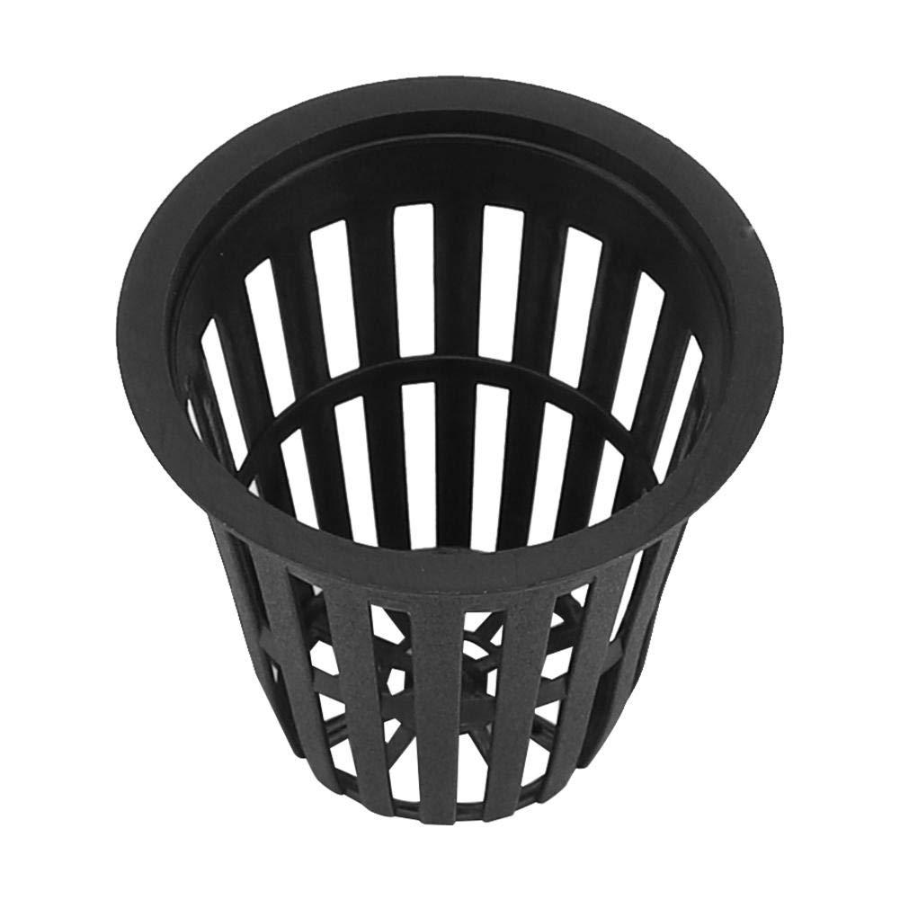 Schwarz 10 teile//satz Pflanzennetz T/öpfe Durable Safe Kunststoff Hydrokultur Korb Tasse f/ür Indoor Outdoor Garten Balkon Pflanzen