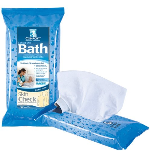 Comfort Bath® Cleansing Washcloths - Case (44 Packages)