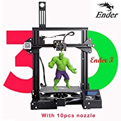 Economic Creality Ender 3 3d printer V-slot Prusa I3 with resume print function 220x220x250mm Ender3 with 10pcs nozzle purchased after July 14, 2019.Why choose creality ender3Cheap DIY 3d printer Creality Ender3 1, price and value Compared wi...