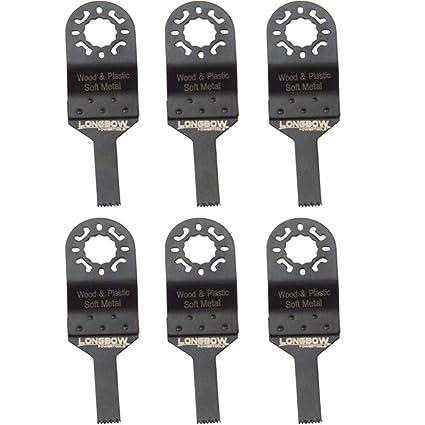 Arco largo , 6 unidades 10 mm multiherramienta cuchillas de sierra diseñado para Makita Bosch Dewalt