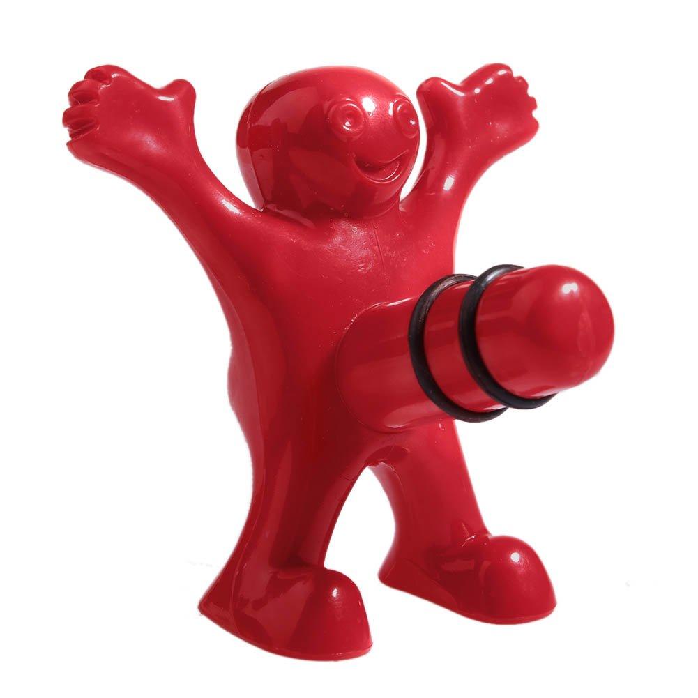 Unique Wine Bottle Plug, Funny Happy Man Wine Bottle Plug Stopper - Red